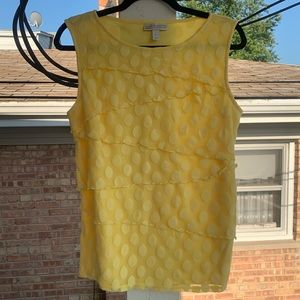 Canary Yellow Tulle Overlay Tank